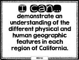 4th Grade Social Studies I Can Statements (CA)