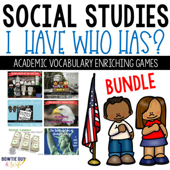 Social Studies (History) Vocabulary Activity Games for the Year BUNDLE!