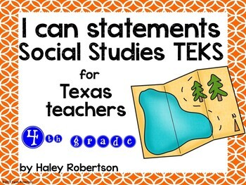 "4th Grade Social Studies ""I can"" statements- Circle pattern (using TEKS)"