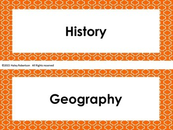 "4th Grade Social Studies ""I can"" statements- Tile pattern (using TEKS)"