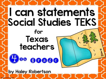 "4th Grade Social Studies ""I can"" statements- Tile pattern"