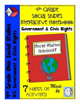 4th Grade Social Studies Interactive Notebook: Government & Civic Rights