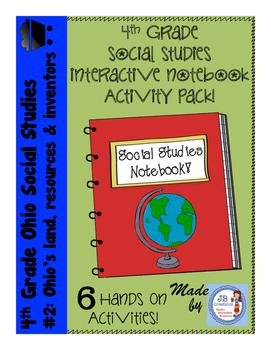 4th Grade Social Studies Interactive Notebook: Ohio Resources & Inventors