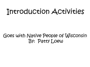 4th Grade Social Studies Interactive Notebook Wisconsin Native Americans