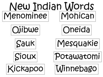 4th Grade Social Studies Interactive Notebook Wisconsin Native Americans