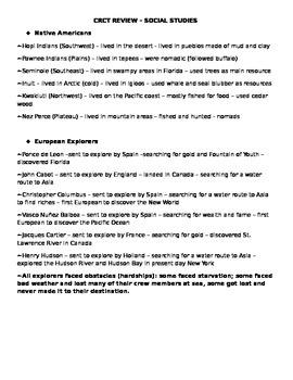 4th Grade Social Studies Milestones Review