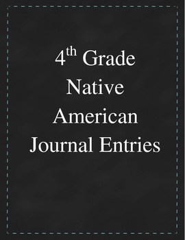 4th Grade Social Studies - Native American Unit Graphic Organizer