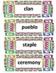 4th Grade Social Studies Native American Unit Word Wall Cards