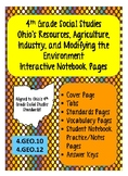 4th Grade Social Studies:  Ohio's Resources, Agriculture,