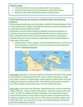 4th Grade Social Studies SS EngageNY Standards Assessment NYS Study Guide