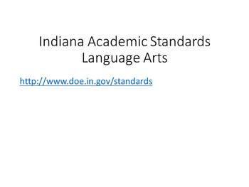 4th Grade Social Studies Standards (Indiana)