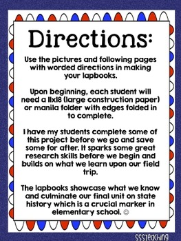 4th Grade Social Studies State Capitol Lapbook