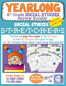 4th Grade Social Studies Stretchers: Freebie Sampler!
