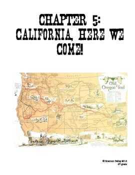 4th Grade Social Studies Study Guide-California, Here We Come!