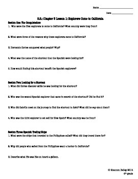 4th Grade Social Studies Study Guide Early Settlements
