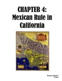 4th Grade Social Studies Study Guide--Mexican Rule in California