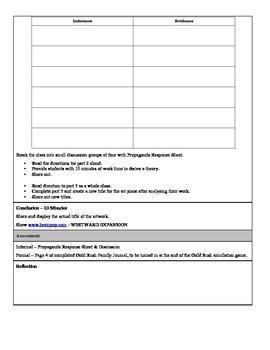4th Grade Social Studies Stull/Observation Lesson