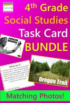 4th Grade Social Studies Task Card BUNDLE {with photos!}