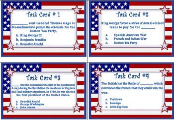 4th Grade Social Studies Task Cards GREAT REVIEWS