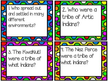 4th Grade Social Studies Test Prep Review Question Cards CC, Georgia Milestones