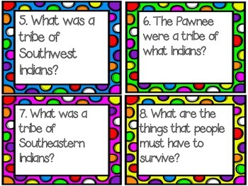 4th Grade Social Studies Test Prep Review Question Cards CC, Georgia Milestones