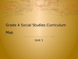 4th Grade Social Studies Unit 1 Curriculum Map