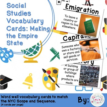 4th Grade Social Studies Vocabulary Cards: Making the Empire State