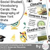 4th Grade Social Studies Vocabulary Cards: New York's Geog