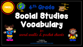 Social studies vocabulary word wall teaching resources teachers 4th grade social studies vocabulary words for pocket chart fandeluxe Gallery