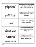 4th Grade Social Studies Word Wall Cards