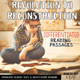 Social Studies Passages: Revolution to Reconstruction Nonfiction Reading Texts