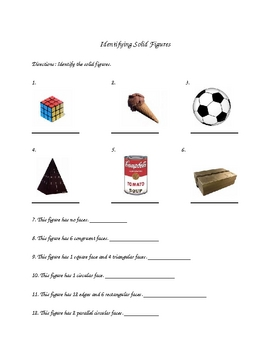 4th Grade Solid Figures Lesson