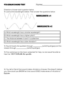 4th Grade Sound Test