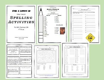4th Grade Spelling Activities HMH Journey's 2014  L16 Ridi
