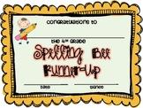 4th Grade Spelling Bee Certificates