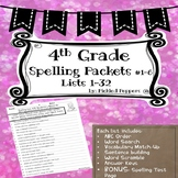 4th Grade Spelling Bundle ALL Lists (1-32)--Common Core--P