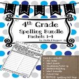 4th Grade Spelling Lists Common--Core Standards--Bundle Lists 1-4