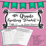 Spelling Lists 4th Grade--Common Core Standards--Packet #1