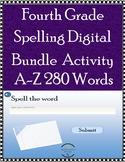 4th Grade Spelling Practice Bundle - A - Z, 280 Words - Di