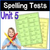 4th Grade Spelling Tests, Wonders Unit 5