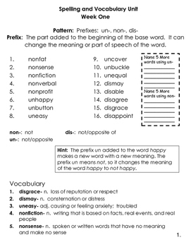 4th Grade Spelling and Vocabulary Common Core Differentiated Program
