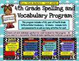 4th Grade Spelling and Vocabulary FULL YEAR Program-  Differentiated!