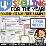 4th Grade Spelling and Vocabulary Program - 2 FREE Weeks!