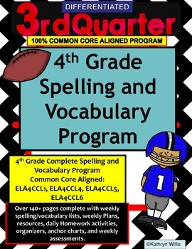 4th Grade Spelling and Vocabulary Quarter 3 Program COMMON CORE