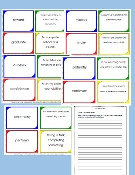 4th Grade Spelling/Vocab Activities HMH Journey's 2014  L17 The Right Dog