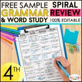 4th Grade Language Homework 4th Grade Morning Work Grammar Practice FREE