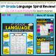 4th Grade Language Homework 4th Grade Morning Work | Gramm