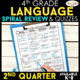 4th Grade Language Spiral Review | Grammar Review | 2nd Quarter