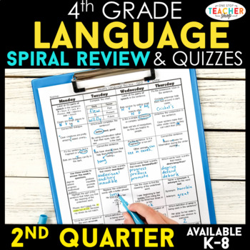 Daily Language Review 4th Grade Worksheets Teaching