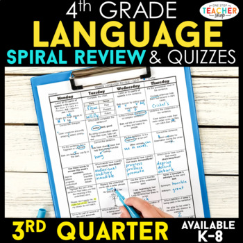 4th Grade Language Homework 4th Grade Morning Work 3rd Qua